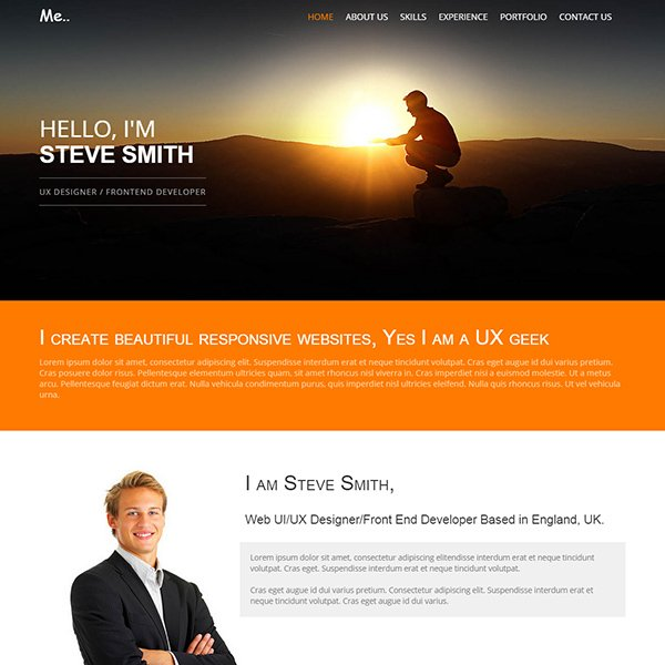 personal resume website templates free download me portfolio responsive template muse web