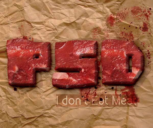 Meat Photoshop Food Text Style Tutorial