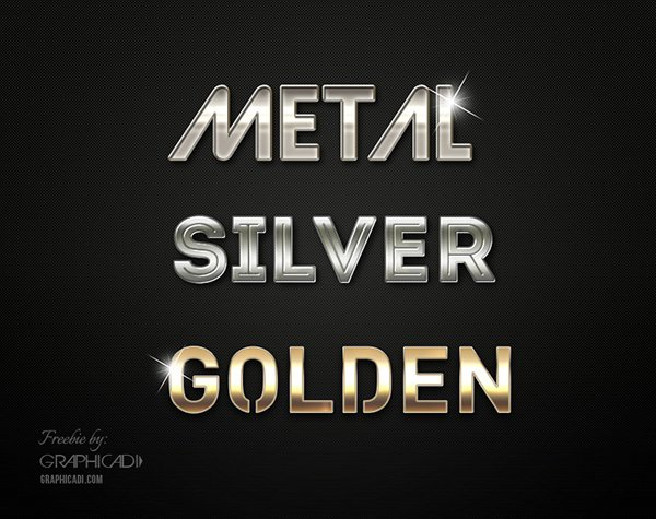 Metallic Photoshop Layer Styles