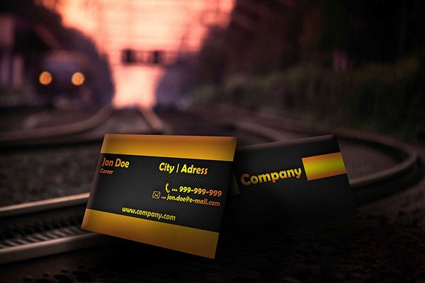 Modern Black Business Card Template