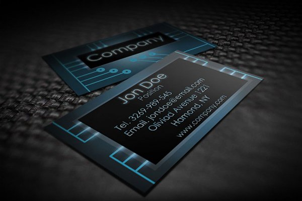 Modern Electronic Business Card Templates