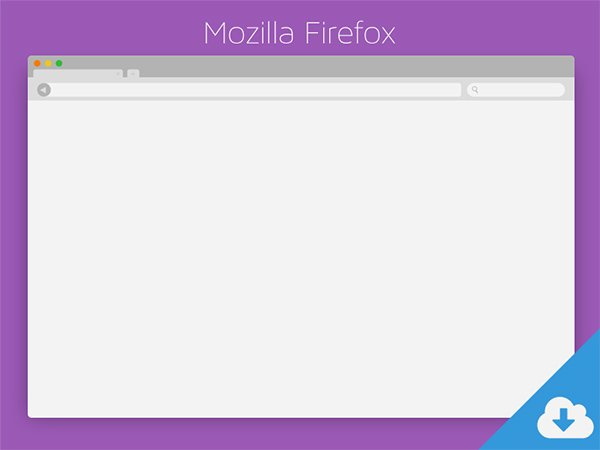 Mozilla Firefox PSD Download