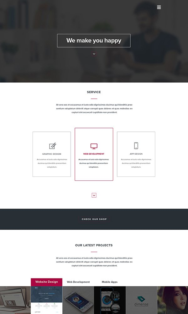 201+ Amazing Free PSD Website Templates