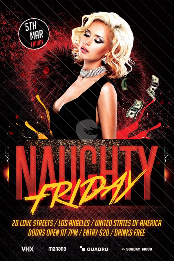 Naughty Friday Party Flyer