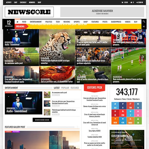 NewsCore - A Blog, Magazine and News Theme
