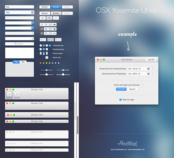 OSX Yosemite Ui kit