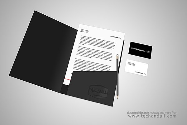 Open Folder Branding Identity Mock Up