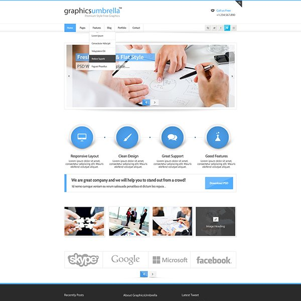 PSD Corporate Business Web Design Template