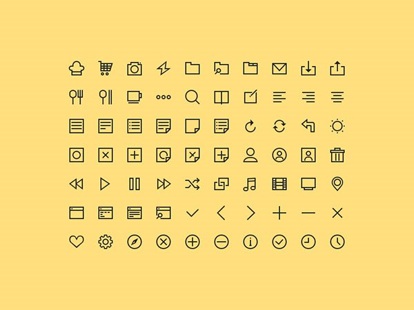 70 Free Simple Icons