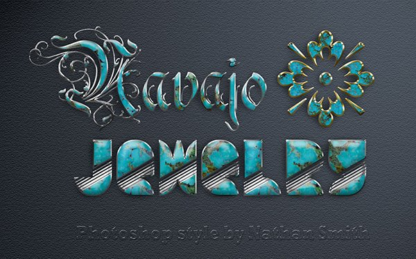 Photoshop Style - Navajo Jewelry