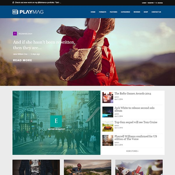 PlayMag - Creative Magazine & Shop WordPress Theme