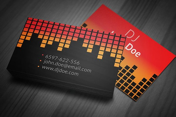 30 amazing free business card psd templates for Sample dj business cards
