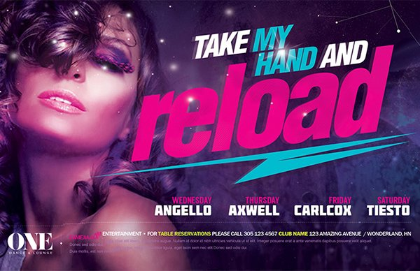 Reload Flyer Template