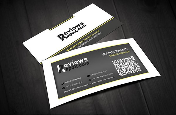 Retro White & Black Business Card Template