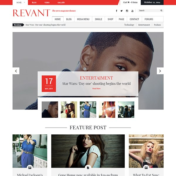 Revant Magazine WordPress Theme