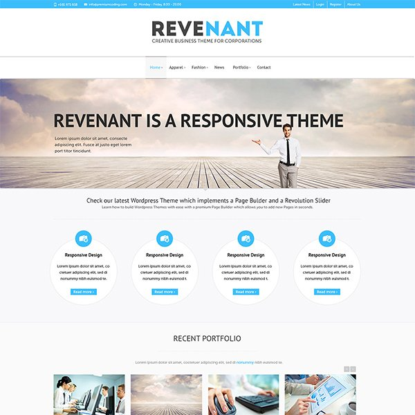 Revenant Template Home Page (PSD)