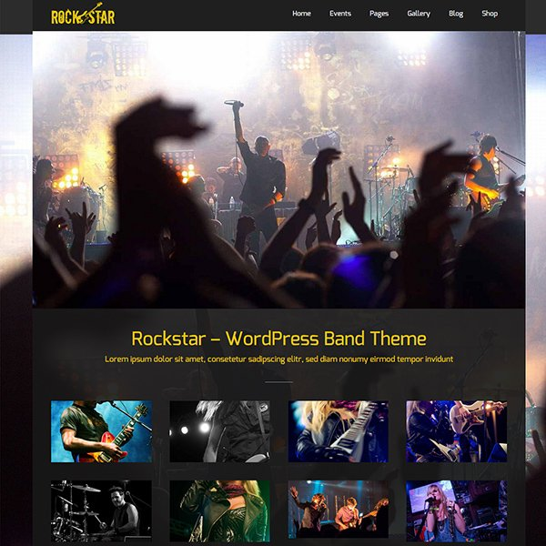 Rockstar - Music WordPress Theme
