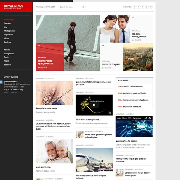 RoyalNews - Premium Responsive WordPress Theme