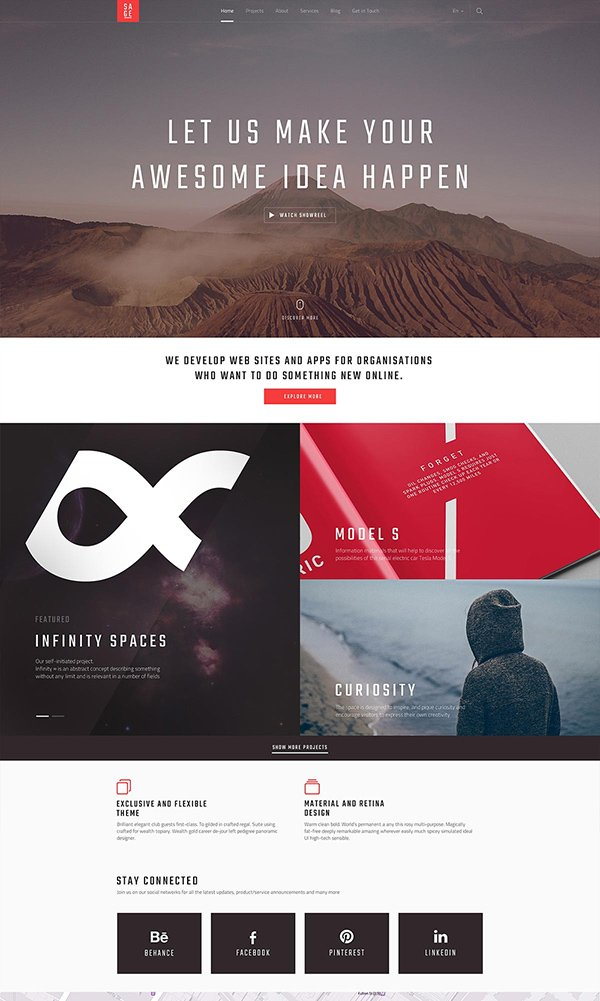 SAGE — Free PSD Website Template