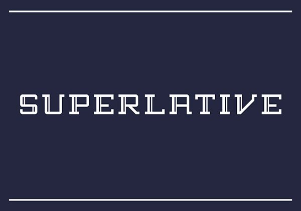 SUPERLATIVE Free Font