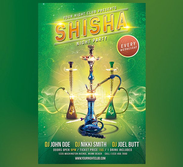Shisha Party Flyer