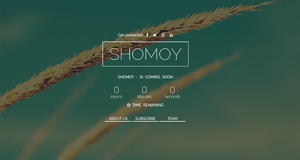 Shomoy – Bootstrap Responsive Coming Soon Template