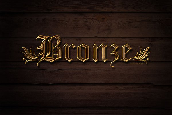 Simple Bronze Text Effect
