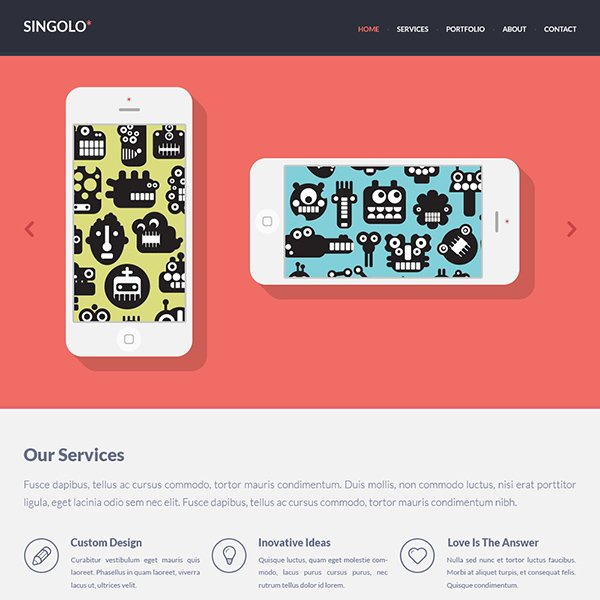 Singolo Flat Single Page Website
