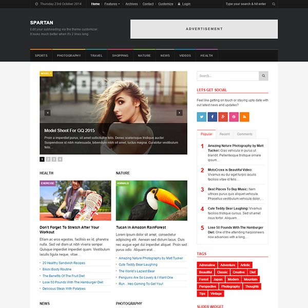 Spartan - News, Blog, Magazine WordPress Theme
