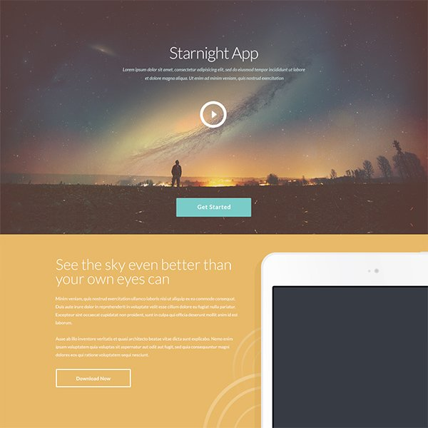 Starnight – Free PSD Website Design