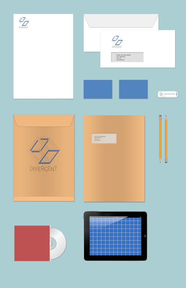Stationary Branding Mock Up