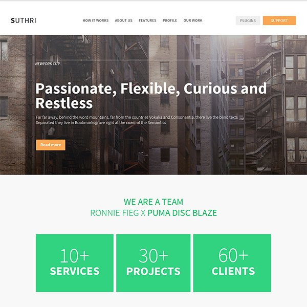 Suthri Website PSD Template