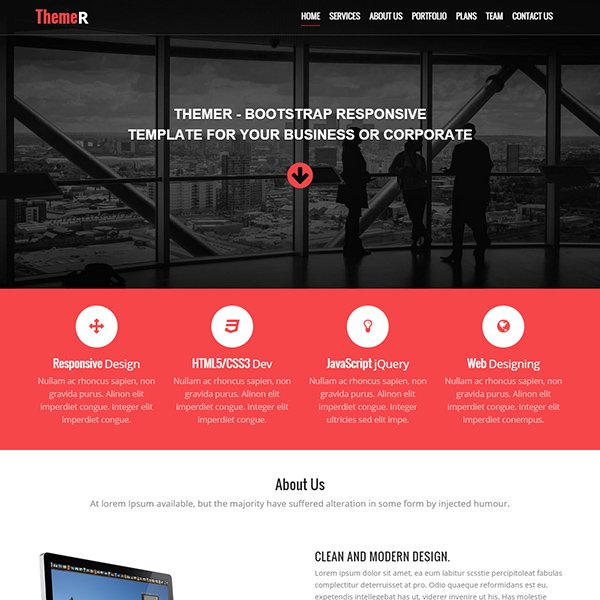 51 free bootstrap themes templates themer is a modern creative and clean html template built with valid html5 css3 it based on bootstrap framework 3 fully responsive design compatible cheaphphosting Choice Image