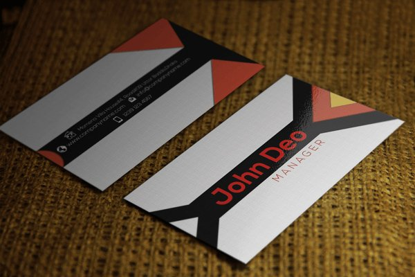 Triangle Commercial Business Card Template