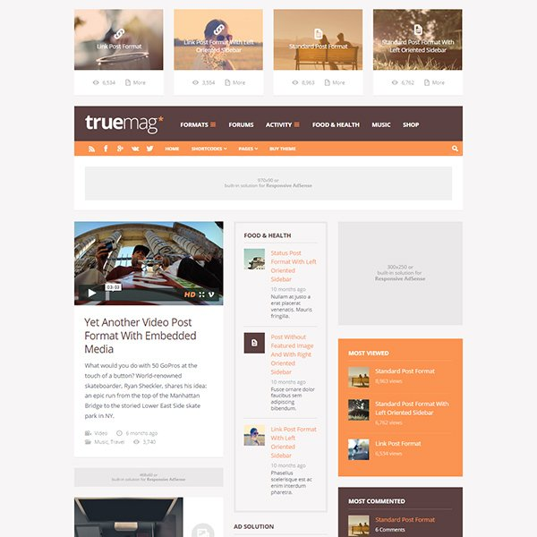 Truemag: AD & AdSense Optimized Magazine
