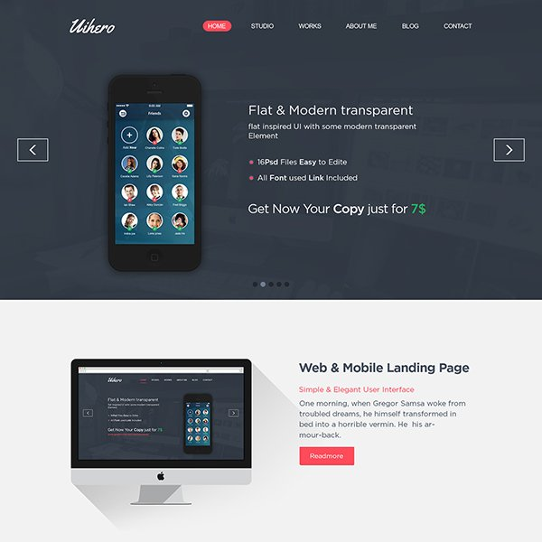 Uihero Free One Page Website