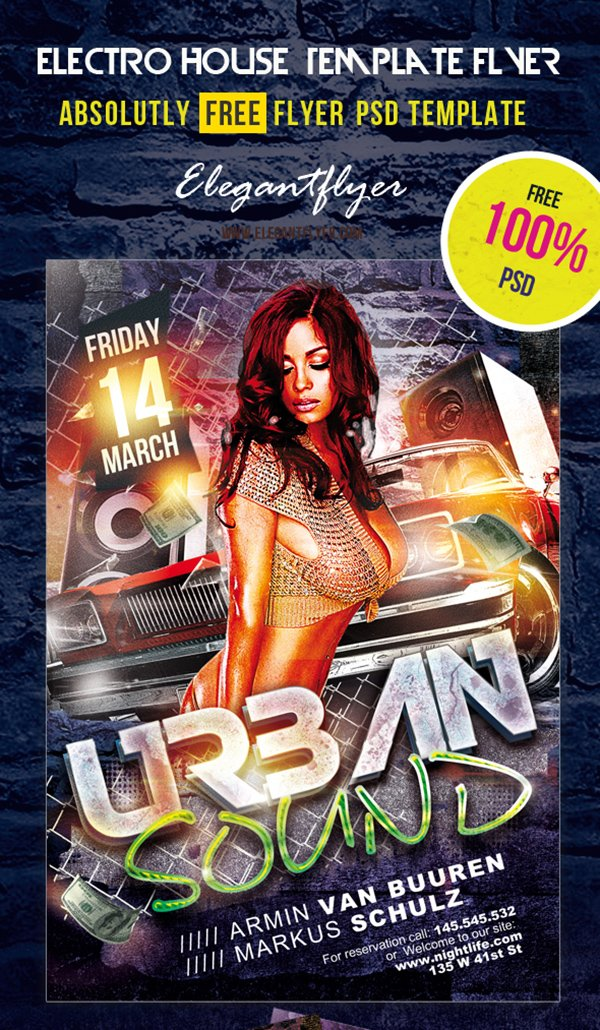 urban sound free psd flyer template - Free Psd Flyer Templates