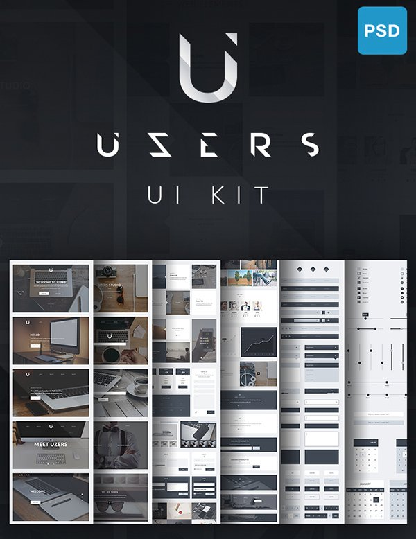 Uzers UI Kit - Free Version