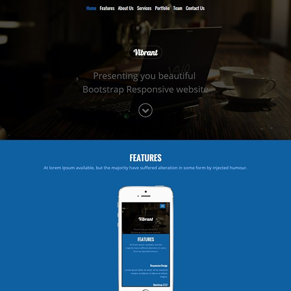 Vibrant Corporate Bootstrap Responsive Website Template