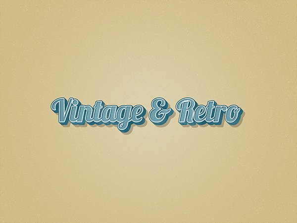 Vintage Layer Styles