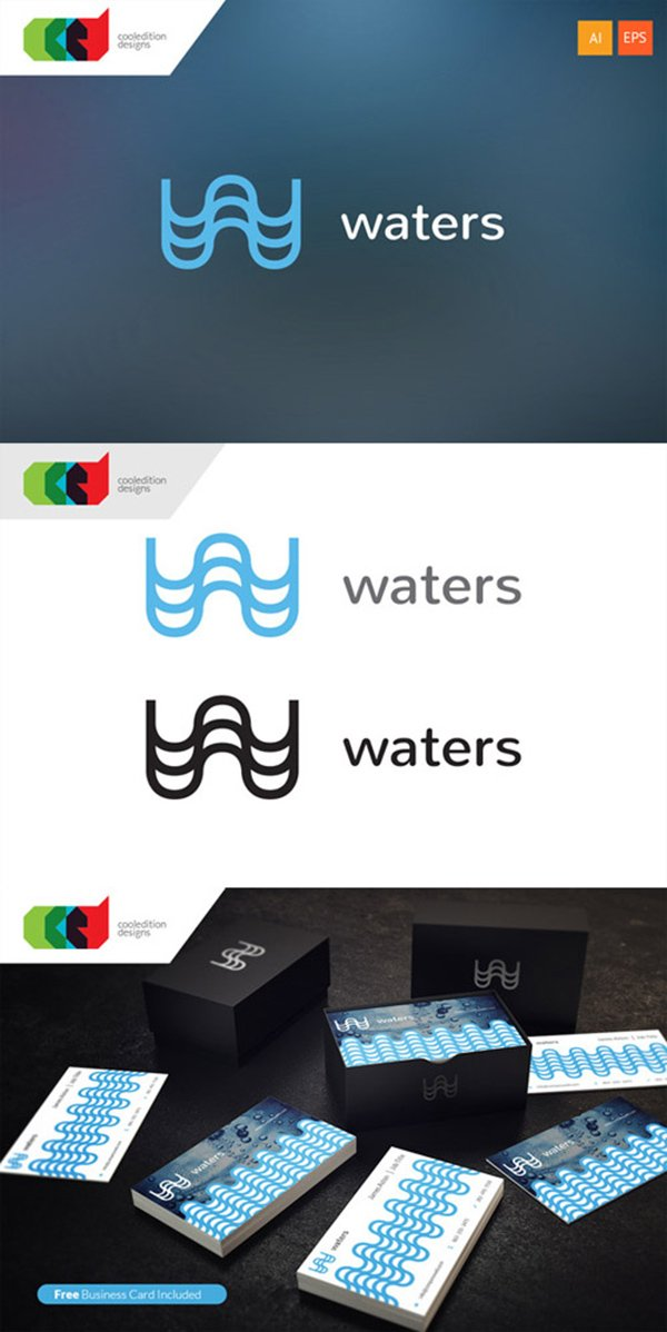 Waters - Logo Template