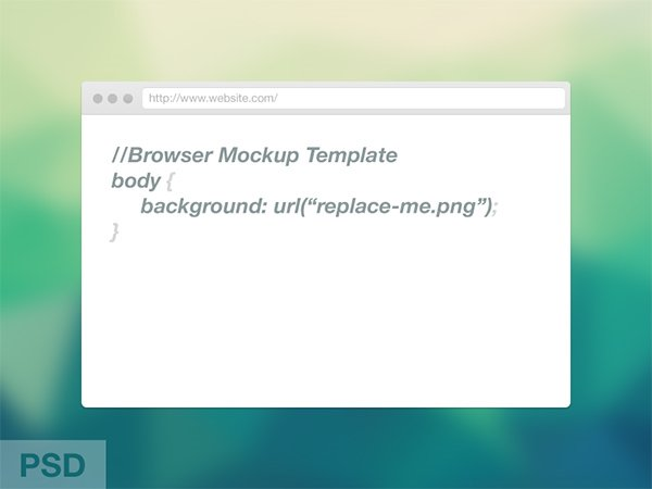 Web Browser Mockup Template