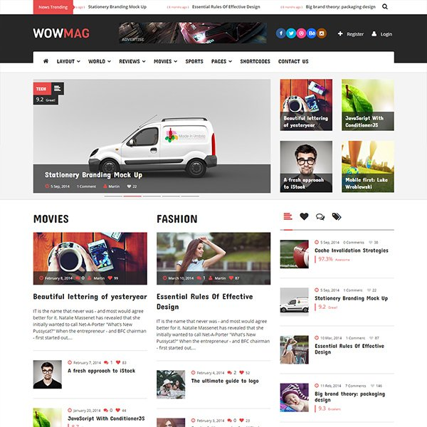WowMag - Blog / Magazine / News WordPress Theme