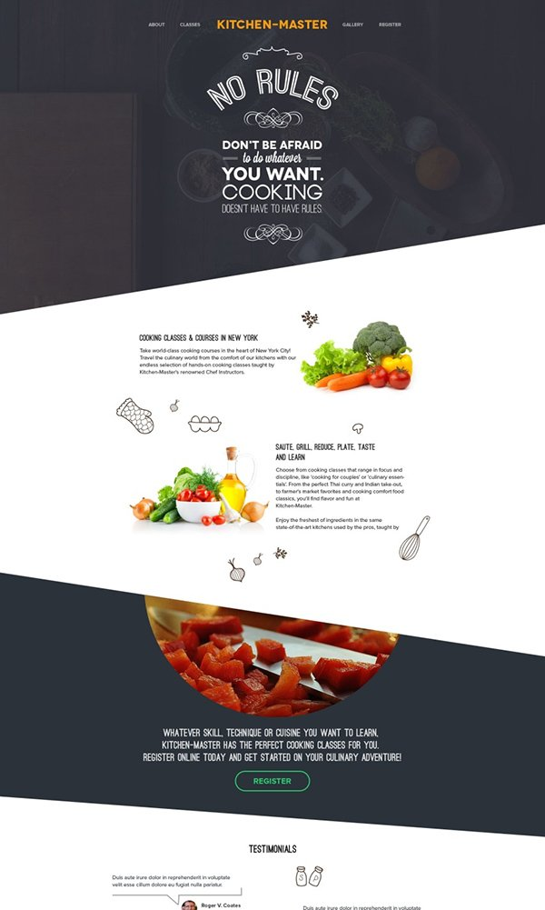 Kitchen Master - Free PSD
