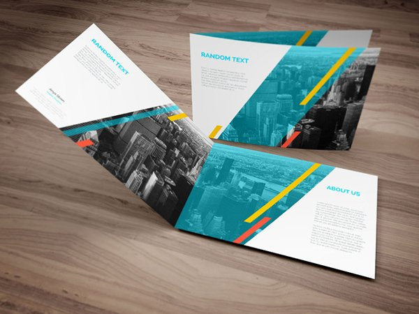 A4 Landscape PSD Brochure Mock-up Template
