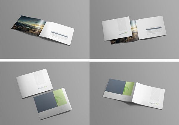 A4 Landscape Brochure Free Mock-up Template