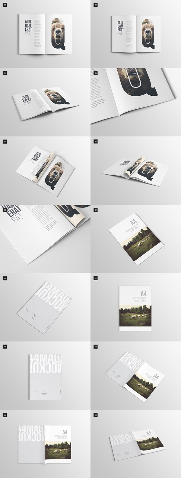Download 75 Free Psd Magazine Book Cover Brochure Mock Ups