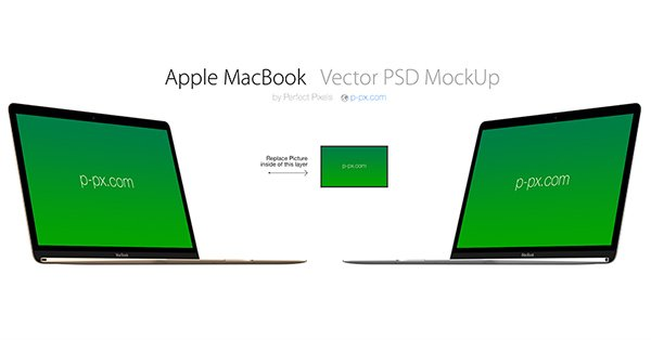 New MacBook Vector MockUp
