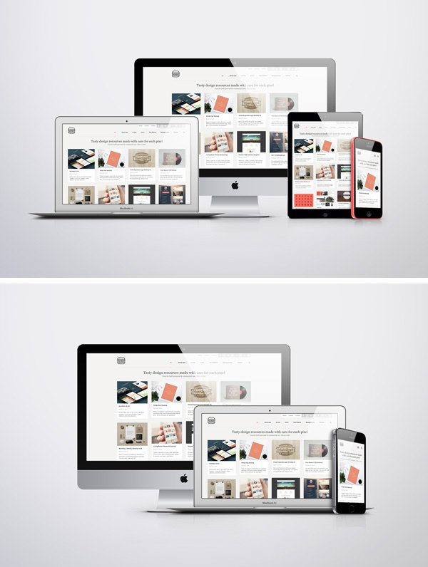 Apple Responsive Screen MockUps