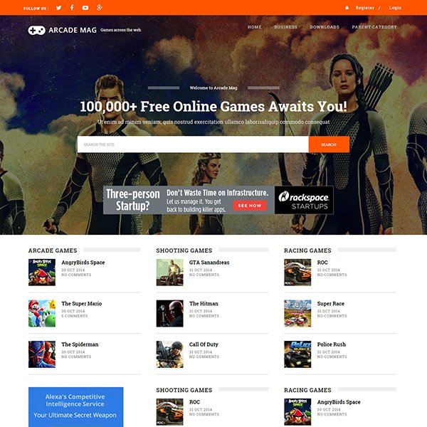 android mag is a responsive gaming blogger template that will offer each and every feature that you need to run a successful gaming blog or magazine
